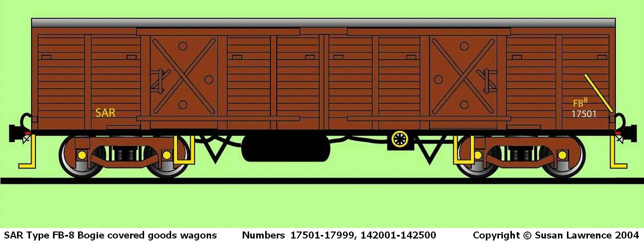 SAR Type FB-8 Bogie Covered Goods Wagon Drawing
