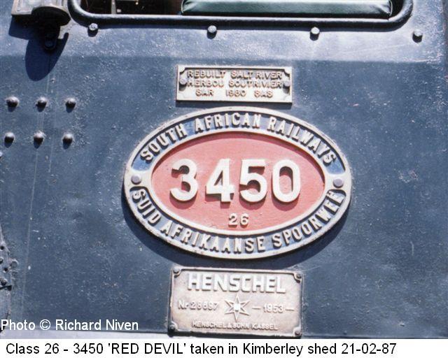 Steam Train Locomotive Class 26 'Red Devil' Photos