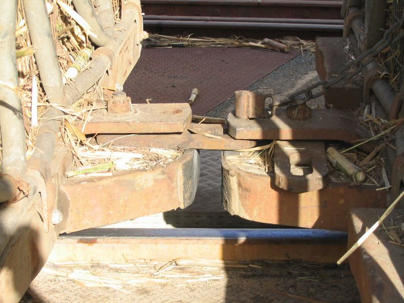 Link And Pin Coupler : Sugar cane railway bins couplings tipplers and road